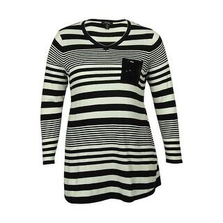 Style & Co Women's Striped Tunic Sweater - 0X