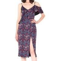 Rachel Rachel Roy Black Womens Size 0 Floral Print Sheath Dress