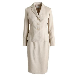 Le Suit Womens Country Club Heathered 2PC Skirt Suit