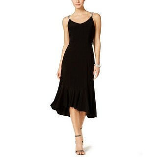 MSK High Low Embellished Strap Cocktail Dress