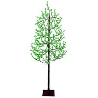 7.5' Pre-Lit LED Christmas Blossom Tree Outdoor Decoration - Green