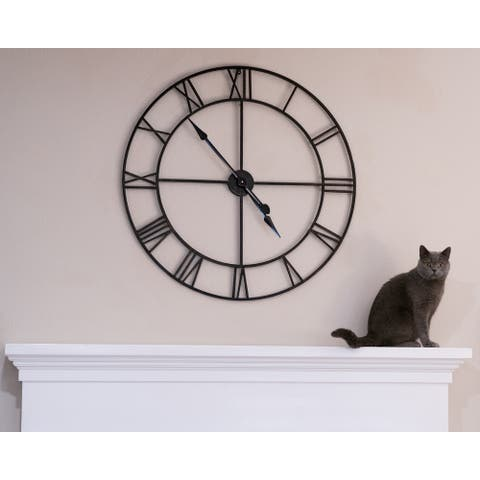 "Oversized Mirage Metal Clock 36"" - 36"