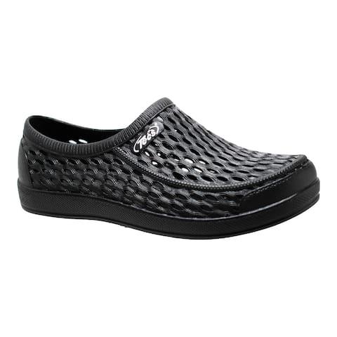 """Women's 4"""" Relax Aqua Tecs Garden Shoes, Black"""
