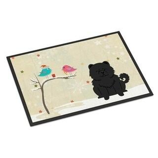 Carolines Treasures BB2615MAT Christmas Presents Between Friends Chow Chow Black Indoor or Outdoor Mat 18 x 0.25 x 27 in.