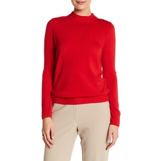 Sag Harbor Ladies Mock-Neck Sweater