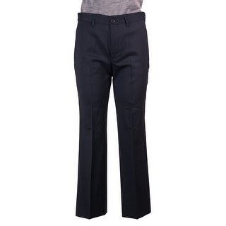 Miu Miu Womens Navy Wool Classic Straight-Leg Cropped Trouser - 8