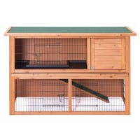 Gymax Large Chicken Coop Rabbit Hutch Garden Backyard Wood Hen House Poultry Cage