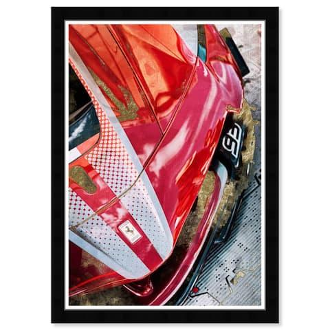 Wynwood Studio Prints 'Red Race Car' Red Wall Art Print