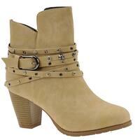 Beacon Womens Payton Almond Toe Ankle Fashion Boots