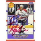 Steve Maltais Washington Capitals 1990 Score Prospect Autographed Card  Rookie Card  This item come