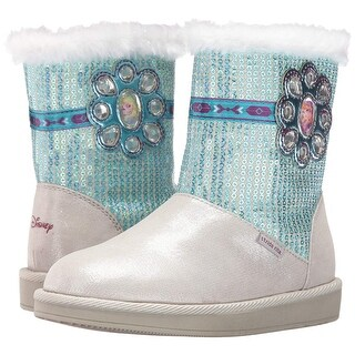 Kids Stride Rite Girls disney frozen Fabric Ankle Slip On Snow Boots - 5.5 medium girls