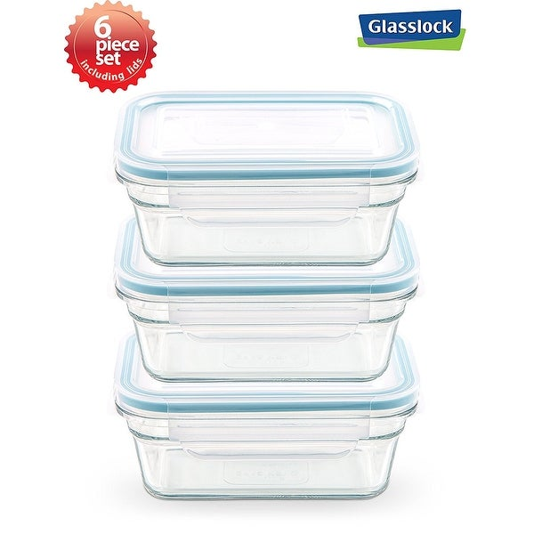 Shop Glasslock Rectangular Food Container 6 Piece Set 63cups
