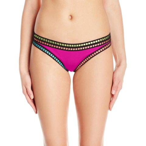 La Blanca Pink Womens Size 8 Bikini Bottom Skimpy Hipster Swimwear