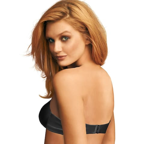 Maidenform Live in Luxe Extra Coverage Strapless Multiway Bra - Size - 36D - Color - Black/Steel Grey