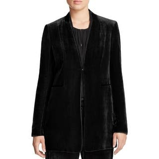 Elie Tahari Womens Collarless Blazer Velvet Contrast Trim|https://ak1.ostkcdn.com/images/products/is/images/direct/7523c3c188c7320ccda45df23015ffca76fd6052/Elie-Tahari-Womens-Collarless-Blazer-Velvet-Contrast-Trim.jpg?impolicy=medium