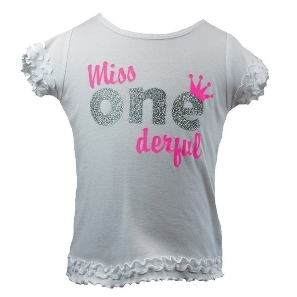 Shop Reflectionz Baby Girls White Miss ONEderful Birthday Girl T Shirt 12 18M