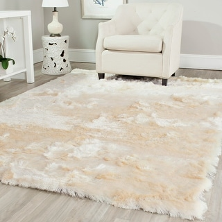 Link to Safavieh Paris Shag Danara Glamour Solid Polyester Rug Similar Items in Shag Rugs