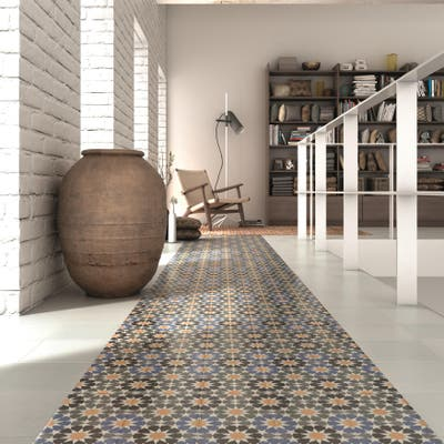 "SomerTile Artline Star Encaustic 5.86"" x 15.75"" Ceramic Floor and Wall Tile"