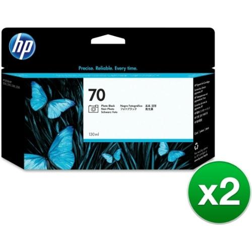 HP 70 130-ml Photo Black DesignJet Ink Cartridge (C9449A) (2-Pack)