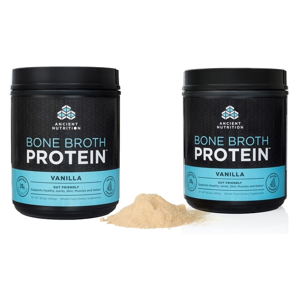 Ancient Nutrition Bone Broth Protein Powder - Vanilla - 40 servings - 2 Pack