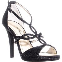 Caparros Nixie Strappy Evening Sandals, Black Glitter