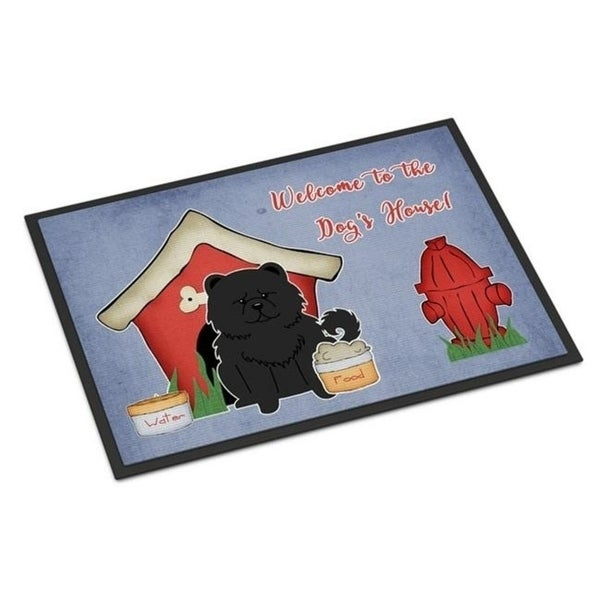 Carolines Treasures BB2897MAT Dog House Collection Chow Chow Black Indoor or Outdoor Mat 18 x 0.25 x 27 in.