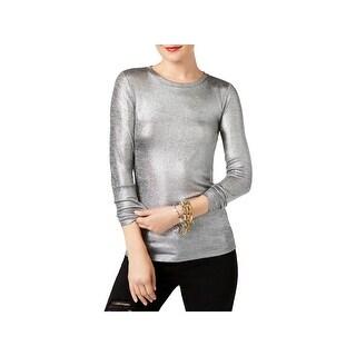 MICHAEL Michael Kors Womens Pullover Top Knit Crew-Neck - m