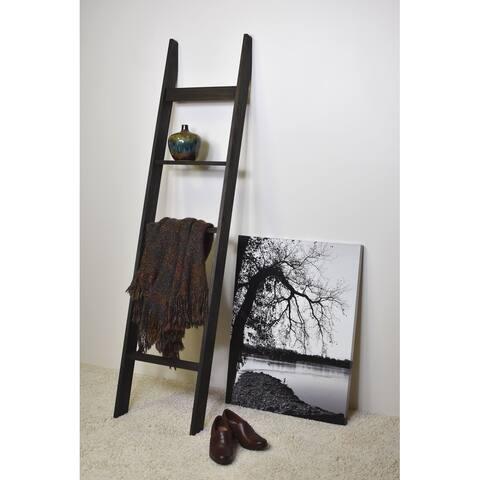 6ft Country Chic Blanket Ladder -Dark Brown - 72 x 17 x 3