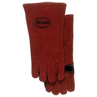 Boss 4096 Men's Split Leather Welders Glove, Red