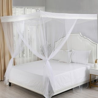 Link to Sheba 4-Post Hanging Sheer Mosquito Bed Canopy Similar Items in Bed Canopies