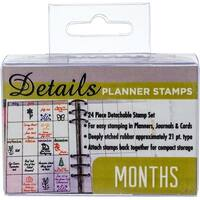 Months - Contact Crafts Planner Stamps 24/Pkg
