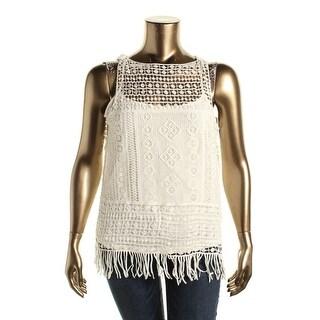 Lauren Ralph Lauren Womens Plus Cotton Lace Pullover Top - 3X