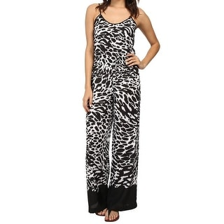 Michael Kors NEW Black White Womens Size Small S Printed Jumpsuit