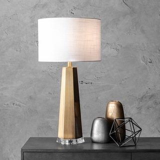 """Link to nuLOOM 30"""" Ombre Metal Obelisk Linen Shade Table Lamp Similar Items in Table Lamps"""