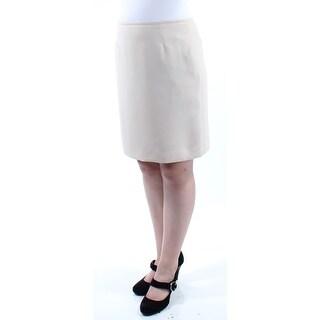 Womens Beige Wear To Work Skirt Size 10