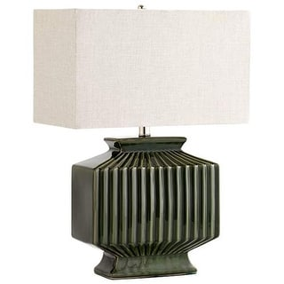 Cyan Design Hamilton Table Lamp Hamilton 1 Light Accent Table Lamp with White Shade - Green