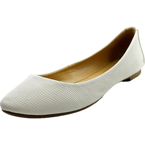 Alfani Gessey Women Round Toe Leather Flats