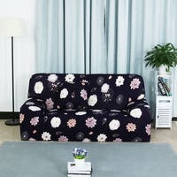 Unique Bargains Floral Pattern L-Shaped Stretch Sofa Slipcovers