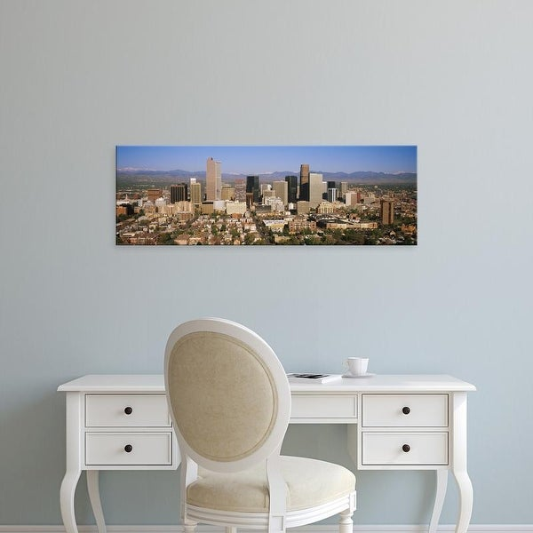 Easy Art Prints Panoramic Images's 'Skyscrapers in a city, Denver, Colorado, USA' Premium Canvas Art