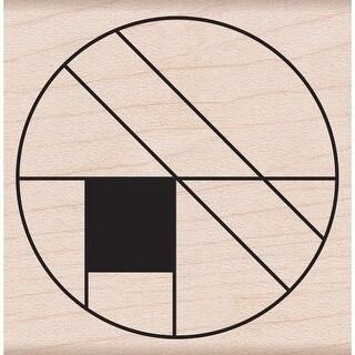 """Hero Arts Mounted Rubber Stamp 2""""X2""""-Large Circle Grid"""
