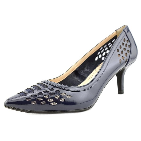 J. Renee Halinatoo Women Pointed Toe Synthetic Blue Heels