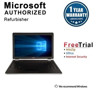 "Refurbished Dell Latitude E6220 12.5"" Laptop Intel Core i7 2620M 2.7G 4G DDR3 500G Win 10 Pro 1 Year Warranty - Black"