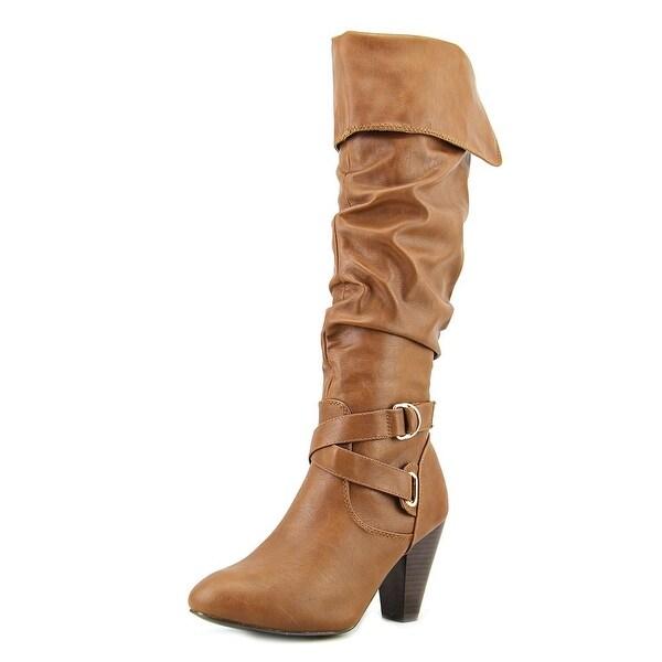 Rampage Ellesandra Women Round Toe Synthetic Brown Knee High Boot