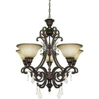 Artcraft Lighting AC1827 Florence 5 Light Crystal Chandelier - 28 Inches Wide