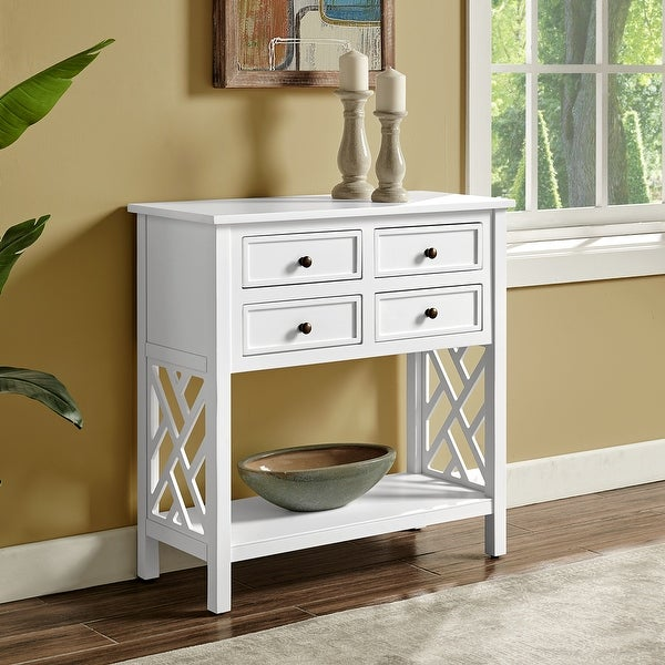 Porch & Den Altadena 32-inch Wide Wood Console Table with 4 Drawers. Opens flyout.