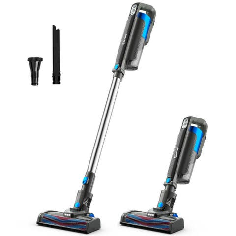 Cordless 6 in 1 Handheld Stick Vacuum Cleaner with Detachable Battery & Filtration-Blue - Blue - Onesize