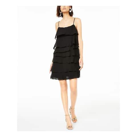 BAR III Black Spaghetti Strap Mini Dress L