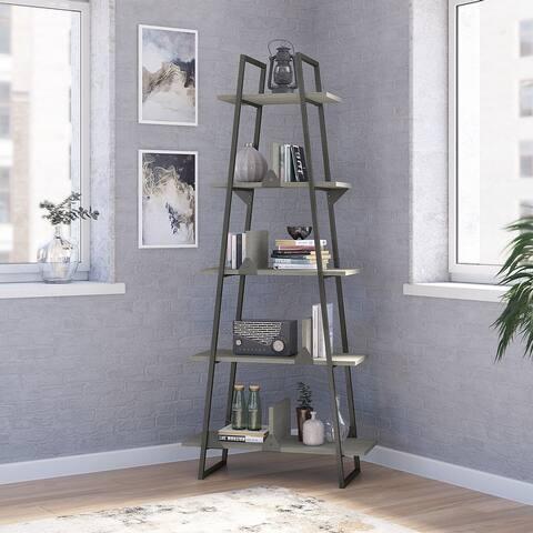 """Carbon Loft Plimpton A-frame Bookshelf - 31.73""""L x 13.46""""W x 71.85""""H - 31.73""""L x 13.46""""W x 71.85""""H"""