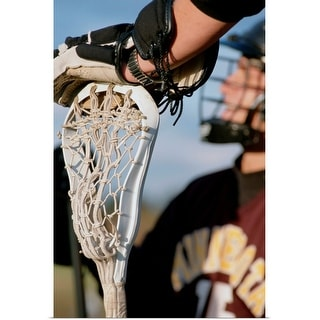 """Hand on a Lacrosse Stick"" Poster Print"
