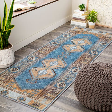 Denise Printed Medallion Hallway Runner